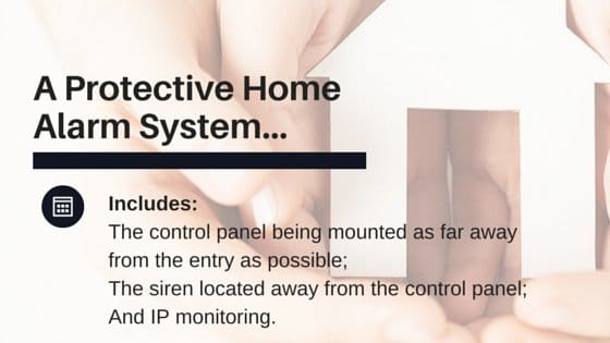 text that says A Protective Home Alarm System...