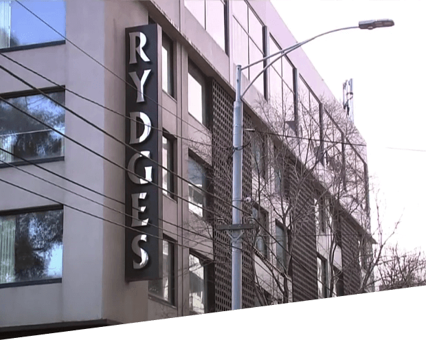 exterior of the Rydges building