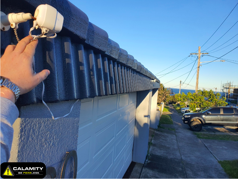 installing an outdoor security camera in a residence